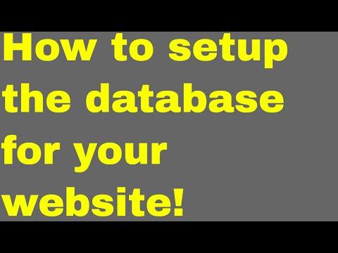 Web development tutorial - recruitment platform -  3 - how to setup database for your website