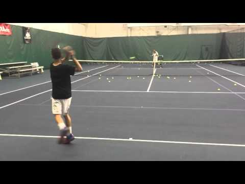 Intense racquet feeding drill - Aaron Brewer