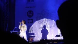 Jannine weigel in Cambodia first performance Still your girl, in CJCC