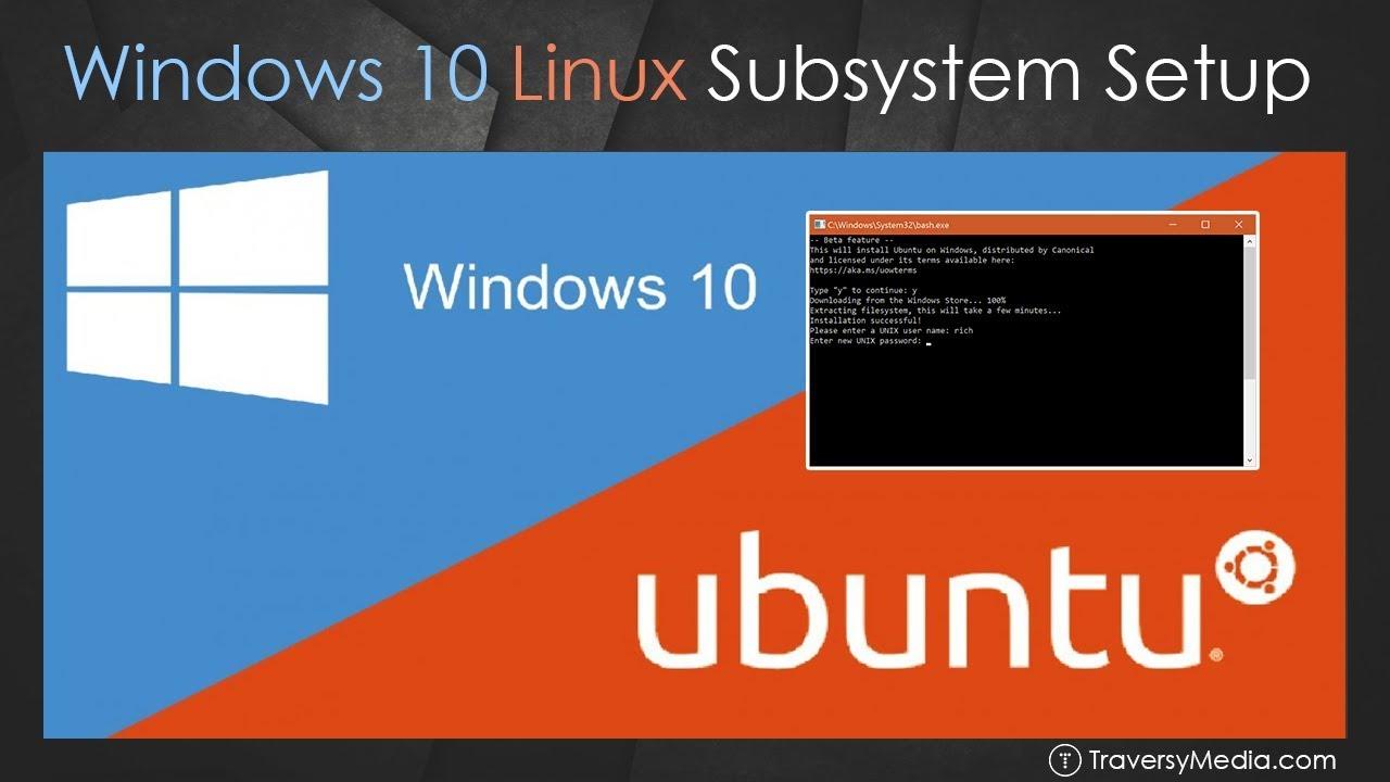 Windows 10 Bash Linux Subsystem Setup
