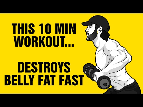 10min Dumbbell Belly Fat Destroyer Workout: Get 6 Pack Abs Fast
