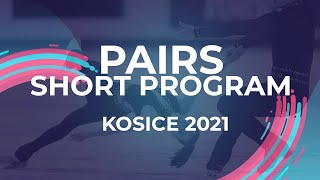 Polina Kostiukovich Aleksei Briukhanov RUS PAIR SHORT PROGRAM Kosice Week 3 2021 JGPFigure