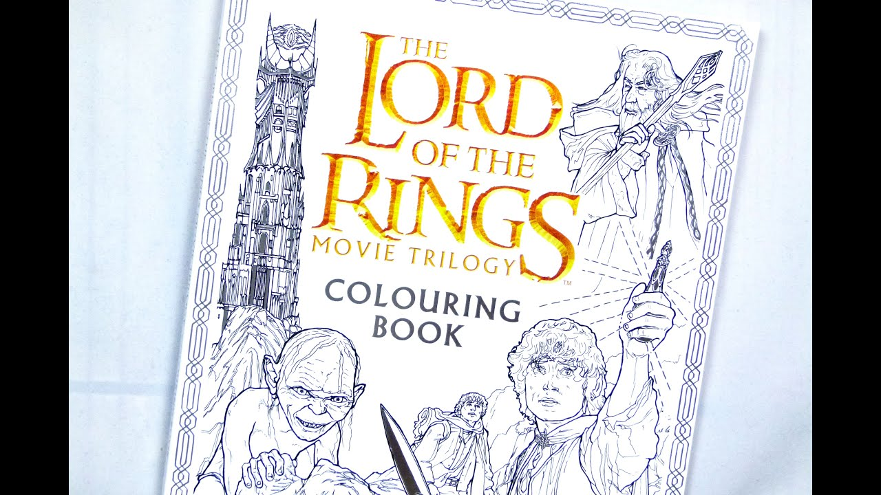 The Lord of the Rings colouring book - YouTube