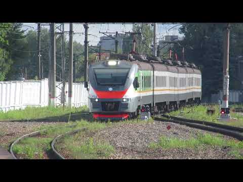 Электропоезд ЭП2Д-0015 ЦППК станция Калуга-1 6.07.2019