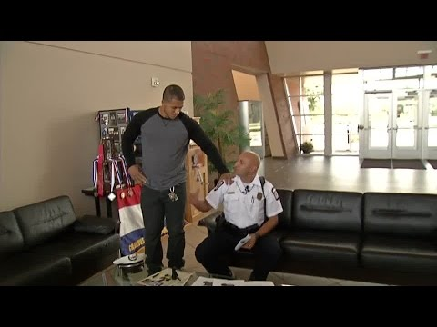 RAW: Columbus officer reunites with man he saved from drowning 19 years ago