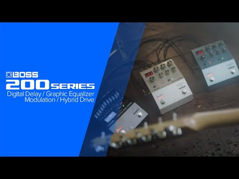 Introducing the BOSS 200 Series (DD-200, EQ-200, MD-200, OD-200)