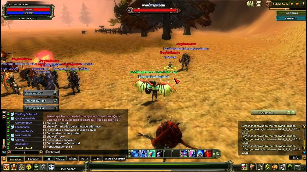 KnightOnLine ASGARD Koxper - Shewolf -