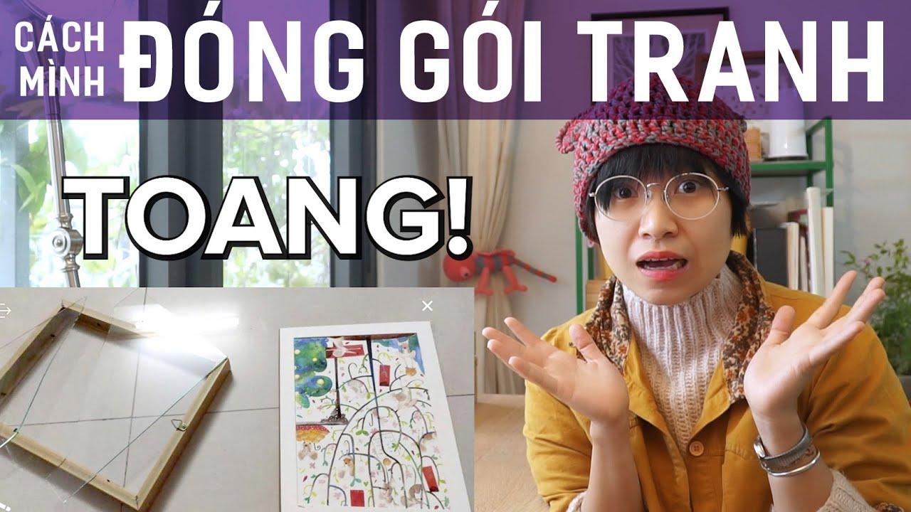 Studio Vlog: Cách mình đóng gói tranh kính ~ | Họa sĩ minh họa