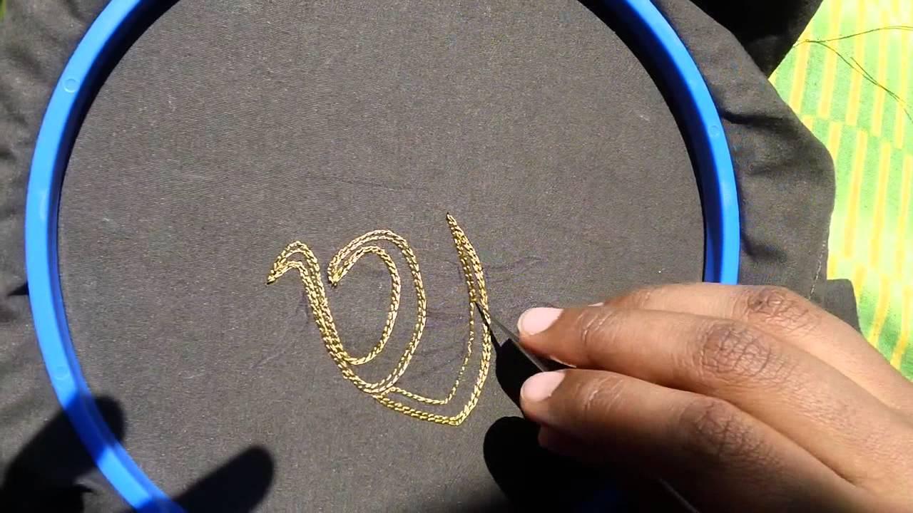 Thread Work Zardosi Hand Embroidery Needle Youtube
