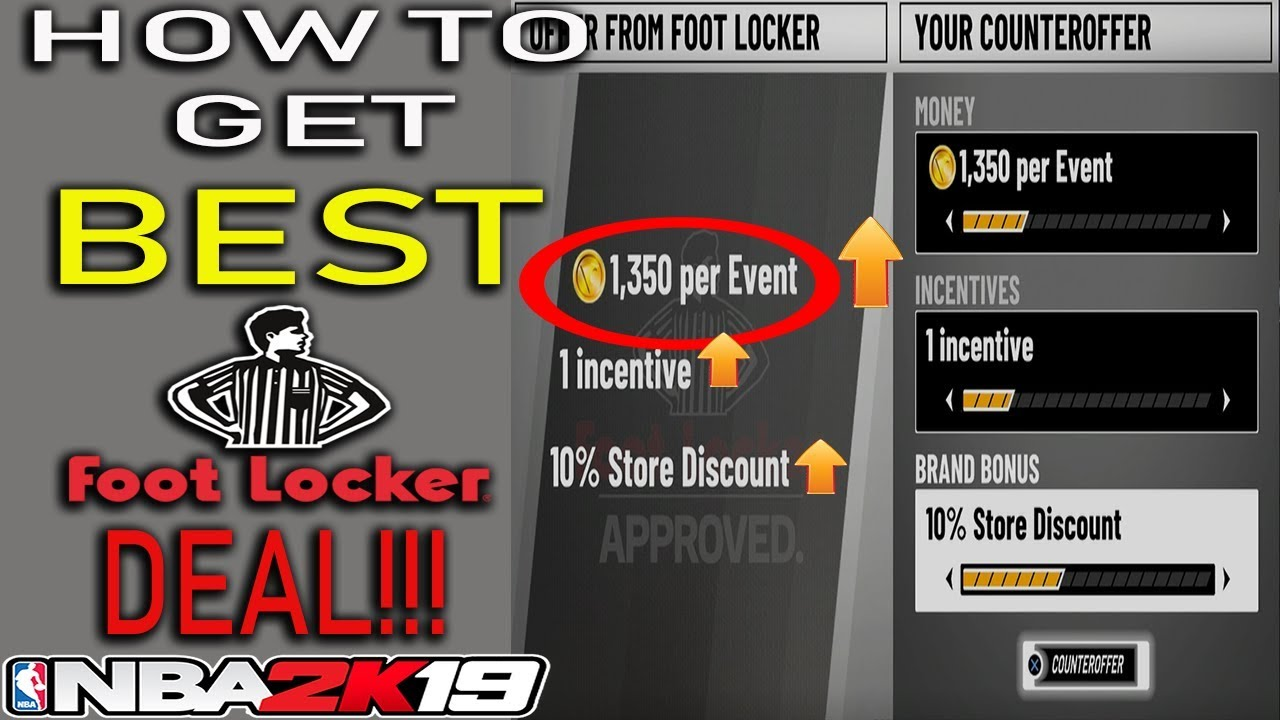 7e3c7bc1395e NBA 2K19 MY CAREER - HOW TO GET THE BEST FOOT LOCKER DEAL - YouTube
