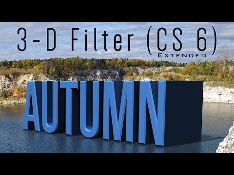 Photoshop CS6 Extended Tutorial: 3D TEXT. How to add Bevels, Light, Shadow and Reflections.