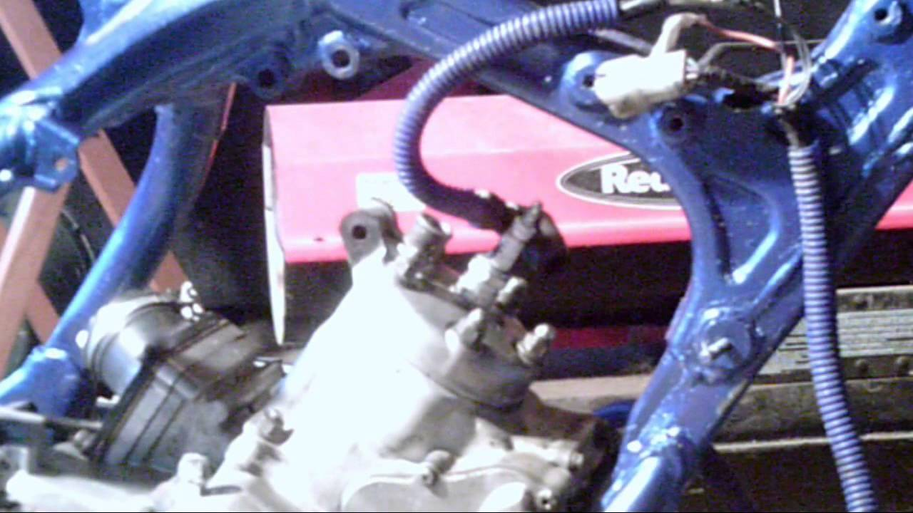 Motorcycle Wiring Diagram 2002 Saturn Sl2 Headlight 99 Yamaha Yz125 Part 2 How To Install Cid Box And Coil - Youtube