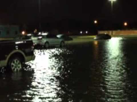 Severe weather traps 200 people at McAllen bingo hall