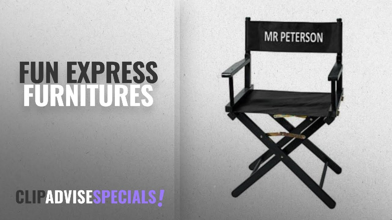 Personalized Directors Chair 10 Best Selling Fun Express Furnitures 2018 Personalized Director S Chair Film Play Hollywood