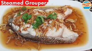 Easy Steamed Grouper Fish with Soy Sauce and Fried Ginger