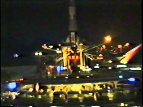Skyway To Tomorrowland. Whole Ride. Disneyland California. Dec 31. 1991.