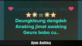 Ayun Ambing - Yana Kermit | Karaoke Sunda