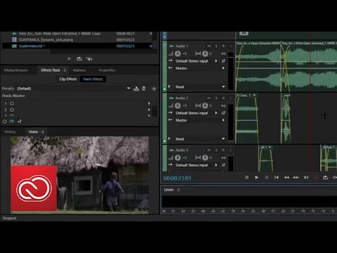 Dynamic Link Video Streaming - Adobe Audition (2015)    Adobe Creative Cloud