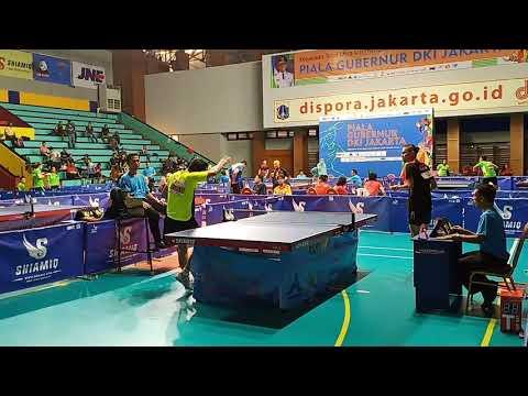 Ficky Supit (Jatim) Vs Bagus (DKI Jakarta) - Piala Gubernur DKI Jakarta - Tenis Meja Jakarta