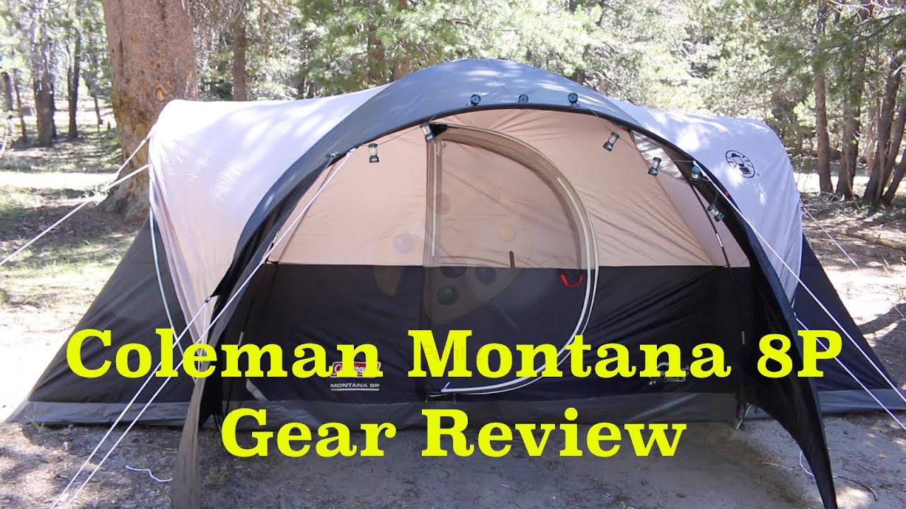 Coleman Montana 8P - 8 Person Tent Gear Review & Coleman Montana 8P - 8 Person Tent Gear Review - YouTube