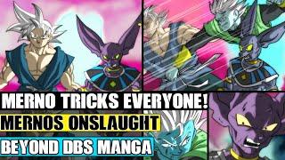 Beyond Dragon Ball Super: Merno Vs Beerus And Ultra Instinct Goku Continues! Mernos Secret Tricks!