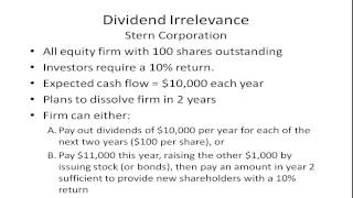 M&M Dividend Irrelevance