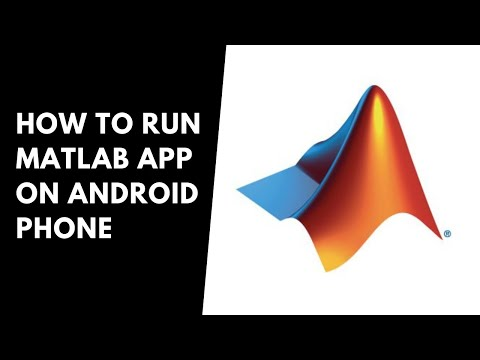 HOW TO RUN MATLAB APP ON ANDROID MOBILE