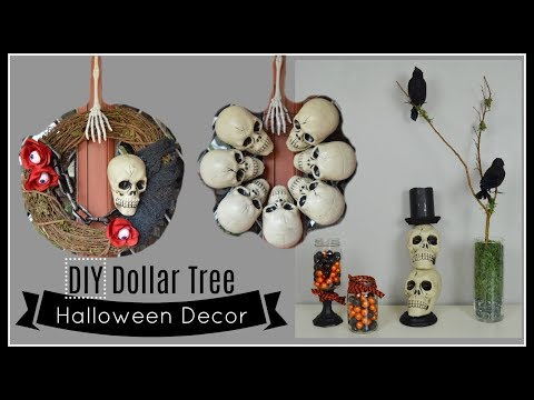 DIY DOLLAR TREE HALLOWEEN DECOR | Home Decor & Wreaths