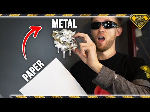 Using Only Paper to Melt Metal