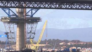 Queensferry Crossing Replacement Forth Road Bridge Construction Firth Of Forth Scotland
