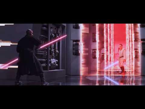DARTH MAUL - FULL LIGHT-SABER FIGHT in HD - Star Wars : The Phantom Menace
