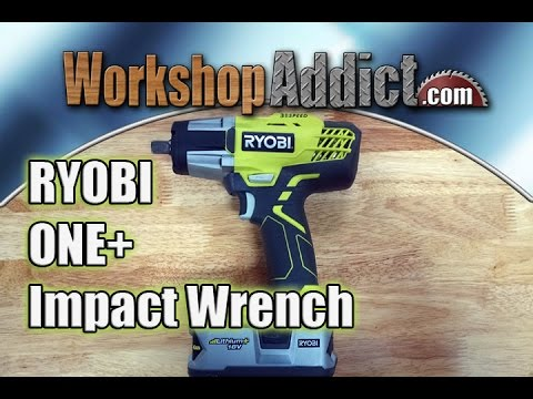 "Ryobi 1/2"" Drive Impact Wrench with 300 ft-lbs of torque P261"