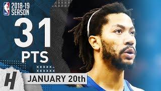 Derrick Rose EPIC Full Highlights Timberwolves vs Suns 2019.01.20 - 31 Pts, GAME-WINNER!
