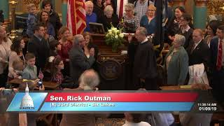 Sen. Outman sworn in as Michigan senator