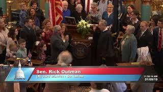 Sen. Outman sworn in as Michigan senator