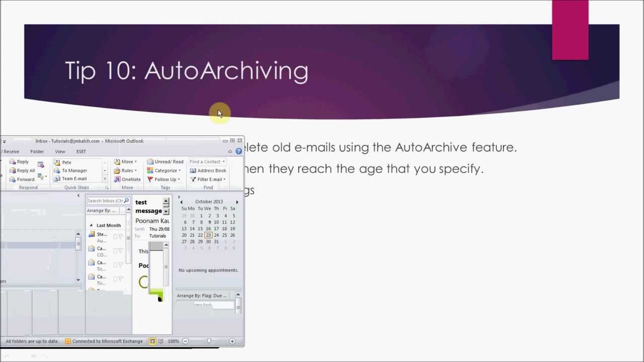 how to add archive folder in outlook 2010