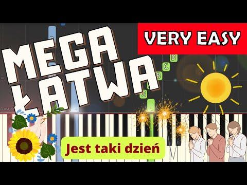 🎹 Jest taki dzień/Dzień jeden w roku (Czerwone Gitary) - Piano Tutorial (MEGA ŁATWA wersja) 🎹