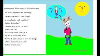 УЧИМСЯ ГОВОРИТЬ ПО НЕМЕЦКИ #45 (Любопытная Эльза) (учимся задавать вопросы на немецком))