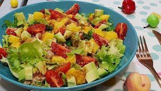 Овощной салат с рыбными консервами. Незаменимый салат для вашего стола!!! Рецепты салатов.