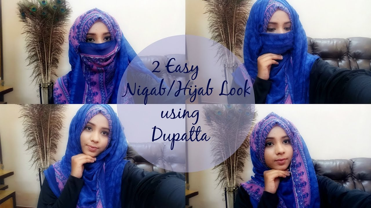 Fashion week How to hijab wear with long dupatta for girls