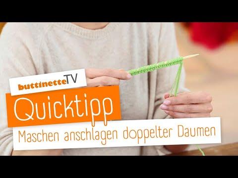 Buttinette Tv Tutorial Quicktipp Maschen Anschlagen Doppelter