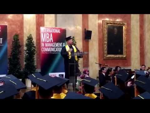 MBA 2016 - Sponsion an der Wiener Börse - Abschlußrede Manuel Meya