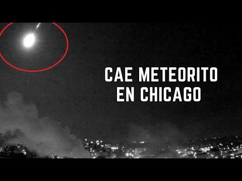 EE.UU. Meteorito desintegrándose en el cielo de Chicago