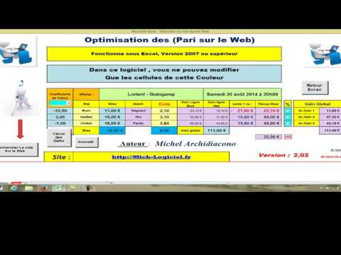 Vidéo démo du logiciel: Optimisation Paris sportif sur le Web (foot ex...)