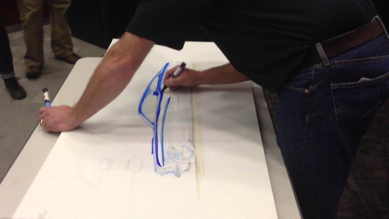 Chip Foose Dibujando Un Mustang En Las Oficinas De 3m
