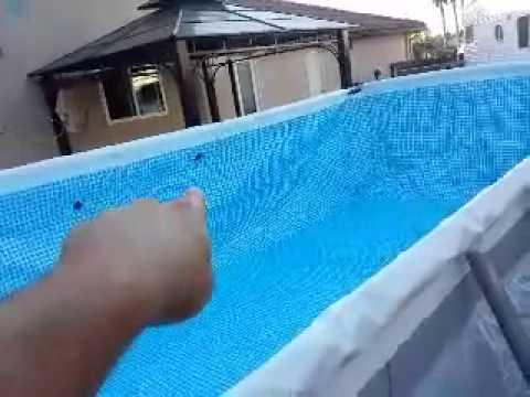 Intex pool set up 12X24 part 1 - YouTube