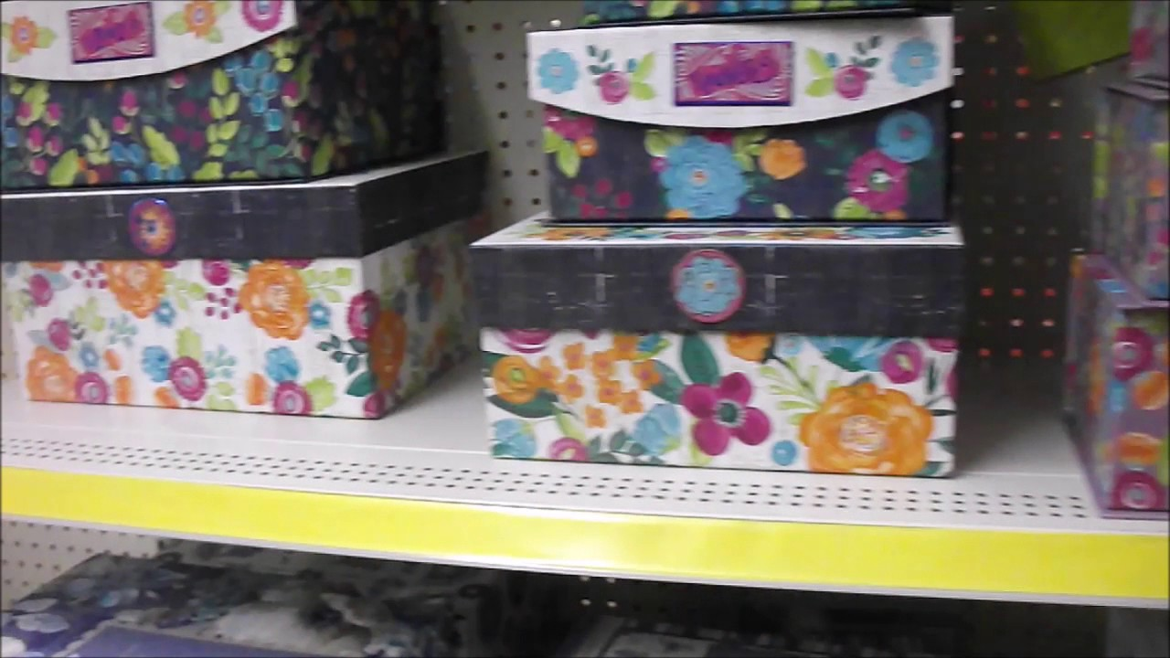 New Decorative Storage Boxes At Dollar General
