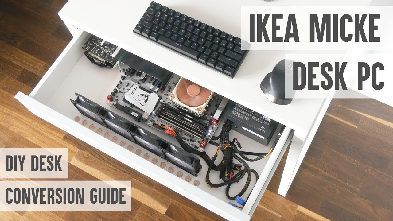 How To Make A Desk Pc From Ikea Micke Desk Probably The Cheapest Diy Desk Pc
