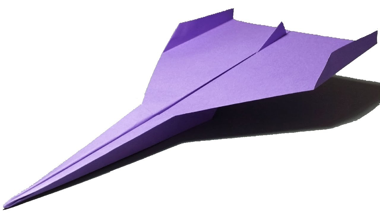 FASTEST PAPER AIRPLANE (How to make) - YouTube