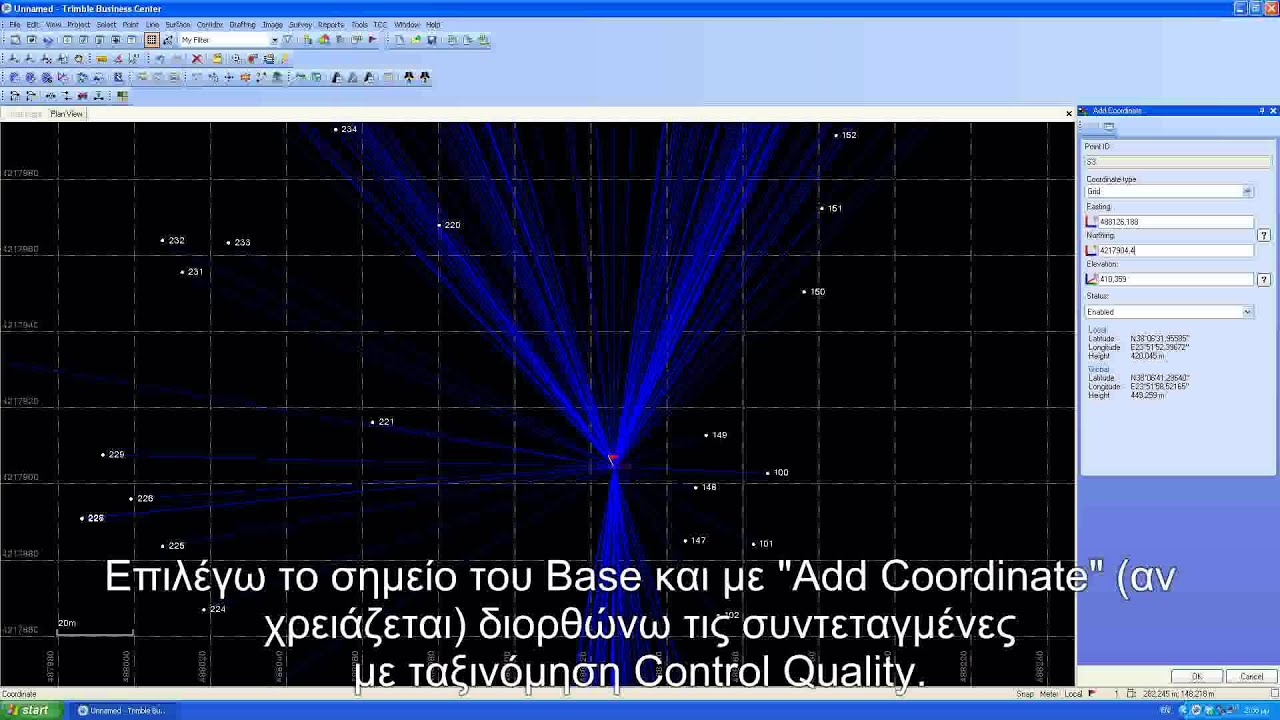 TBC export to kml file by Geotech Trimble